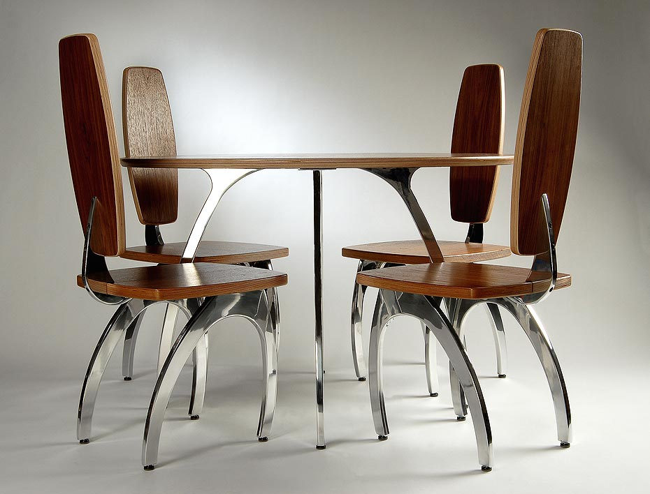 Hospitality Dining Table with 4 Chairs